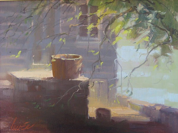 Sunny Porch Print by Gayle Levee
