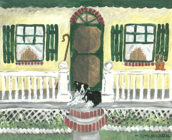Sunny Porch Print by Sue Ann Thornton