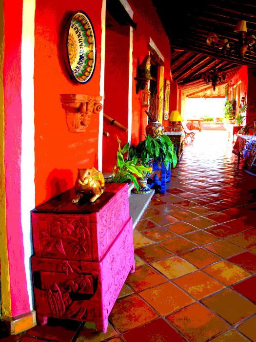 Sunny Veranda By Darian Day Print by Olden Mexico