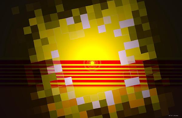 Sunrise Abstract Digital Painting Print by Heinz G Mielke