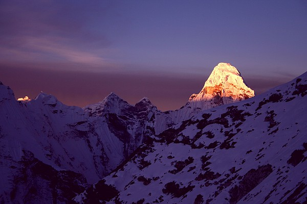 Sunrise At Mt. Ama Dablam Print by Pal Teravagimov Photography