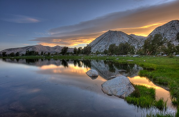 Sunrise At Upper Young Lake Print by by Sathish Jothikumar