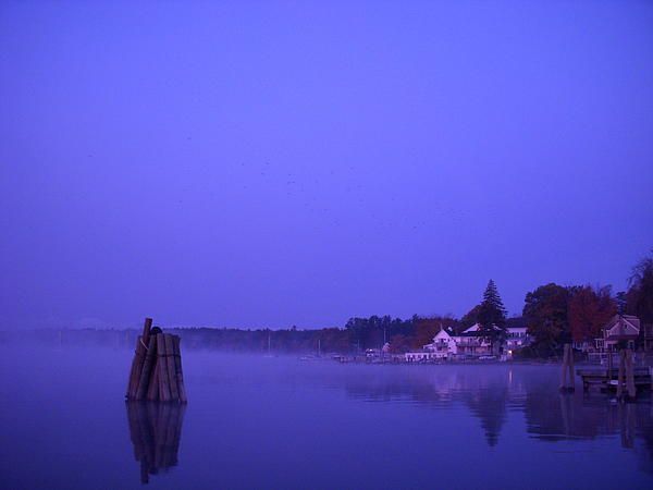 Sunrise At Wolfeboro Bay Print by Stephen Smith
