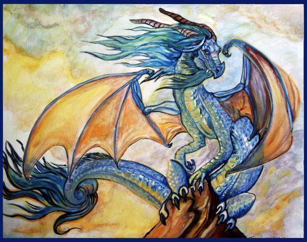 Sunrise Dragon Print by Jenn Cunningham