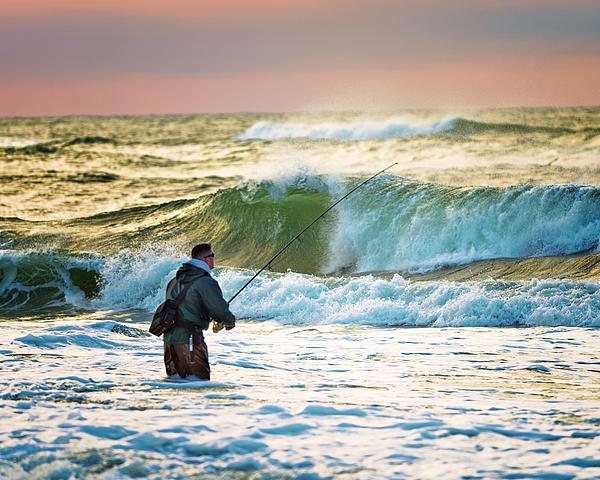 Sunrise Fisherman Print by Vicki Jauron