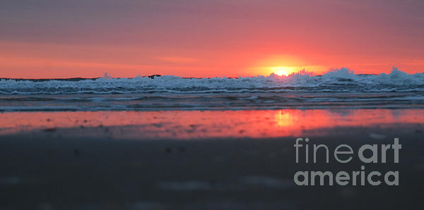 Sunrise From The Sand Print by Linda Mesibov