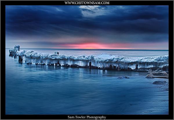 Sunrise Lighthouse Beach Print by Sam Fowler