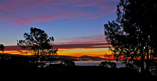 Sunrise Over Capistrano Bay Print by Bob Hasbrook