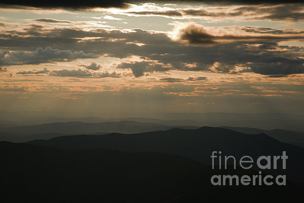 Sunset - White Mountains New Hampshire Usa Print by Erin Paul Donovan