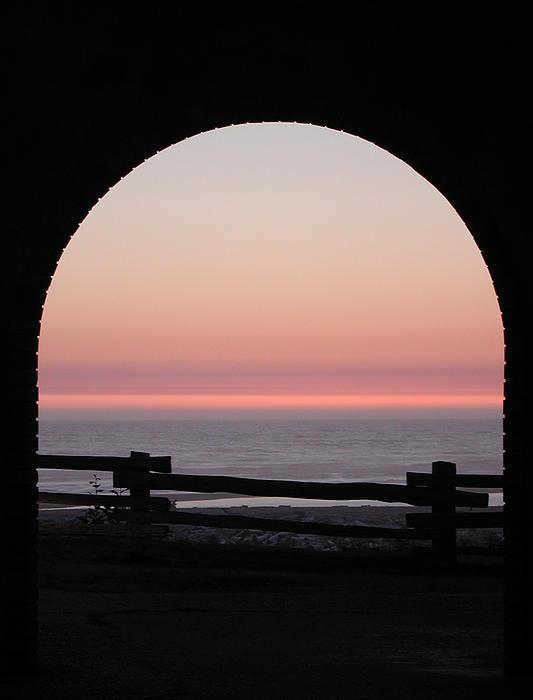 Kathi Shotwell - Sunset Arch with Fog Bank
