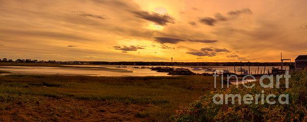 Sunset At Biddeford Pool Print by David Bishop