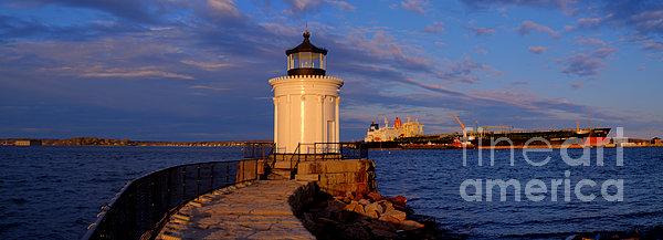 Sunset At Bug Light Lighthouse 2 Print by David Bishop