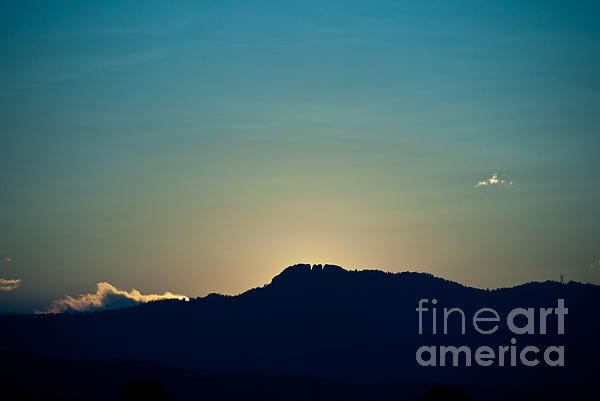 Sunset At Horsetooth Rock Print by Harry Strharsky