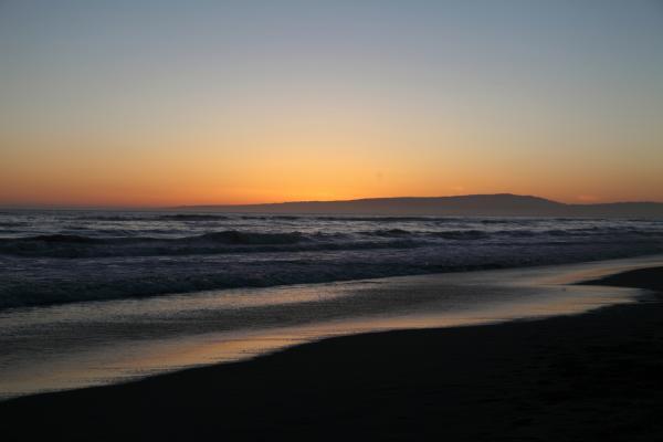 Sunset Beach California Print by Amanda Barcon