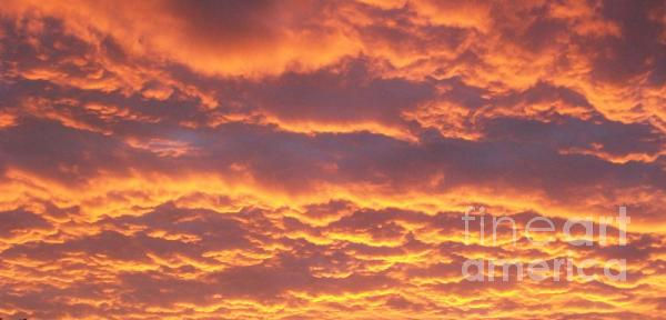 Sunset Clouds After The Storm Print by Marsha Heiken