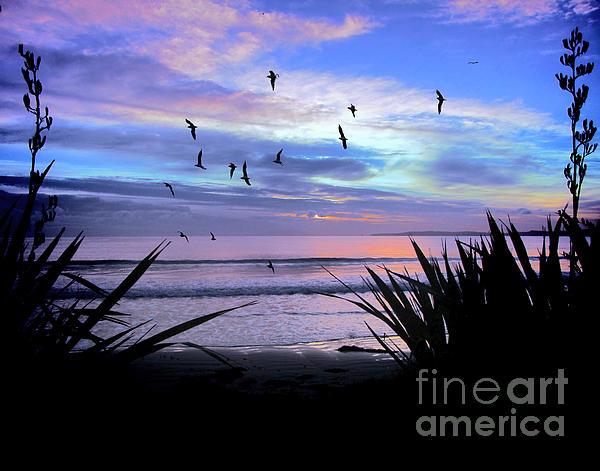 Sunset Down Under Print by Karen Lewis