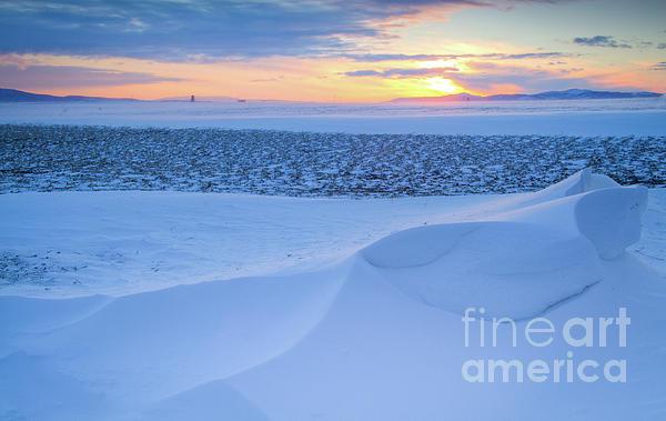 Sunset Drift Print by Idaho Scenic Images Linda Lantzy