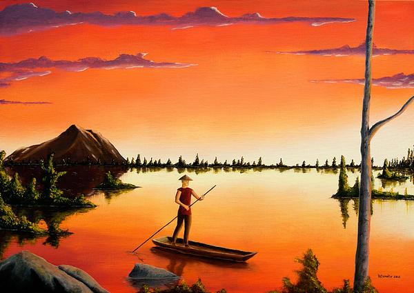 David Rewhorn - Sunset Fisherman