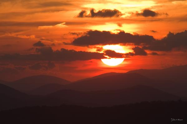 Sunset From The Blue Ridge Parkway Photograph