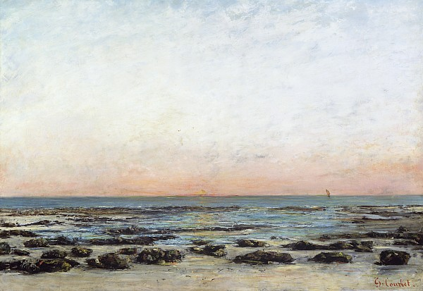 Sunset Print by Gustave Courbet