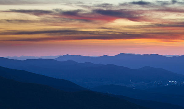 Sunset In Shenandoah National Park Print by Pierre Leclerc Photography