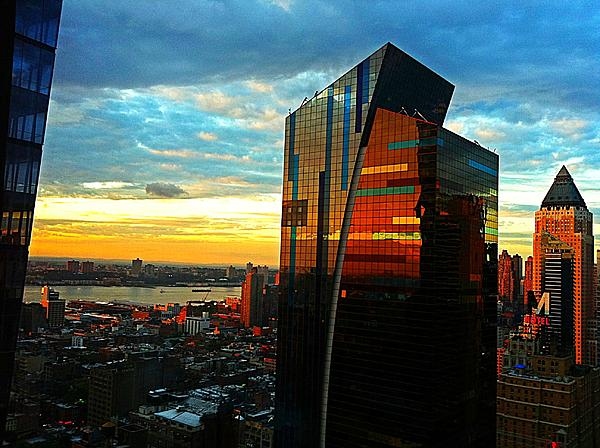Sunset In The City Print by Lisa  Esposito