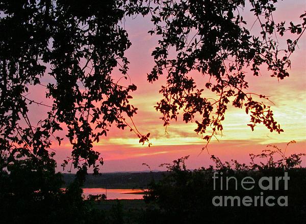 Sunset Over Canyon Lake Print by Randi Shenkman