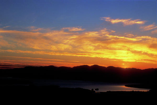 Sunset Over Lake Champlain From Mount Philo Print by John Burk