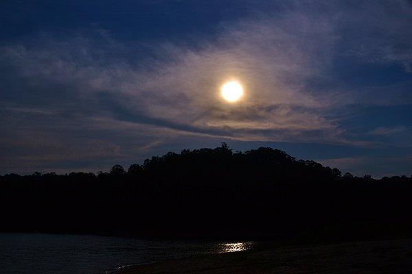 Sunset Over Lake Lanier Ga Print by Marc Mesa