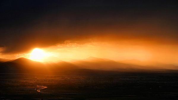 Sunset Over Salt Lake City Print by Kristin Elmquist