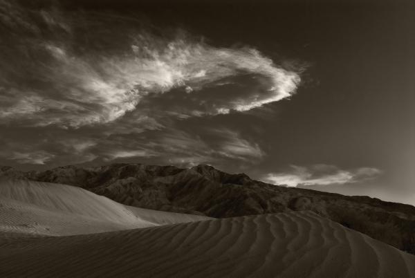 Sunset Over Sand Dunes Death Valley Print by Steve Gadomski