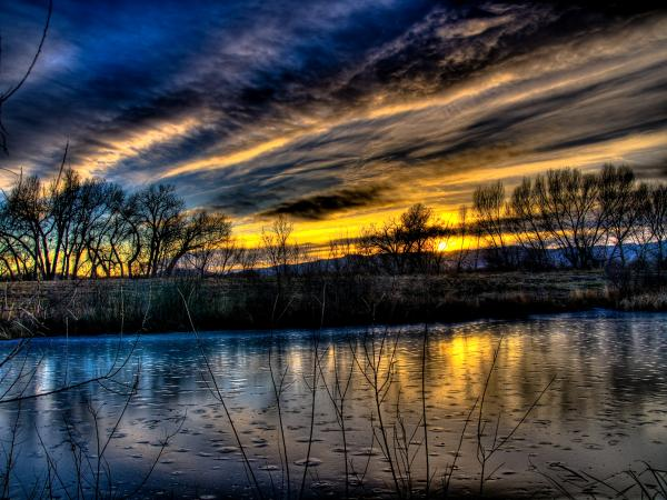Sunset Over The Front Range Print by Jeremiah Tolbert