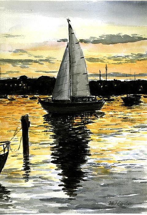 Sunset Ride Print by Paul Gardner