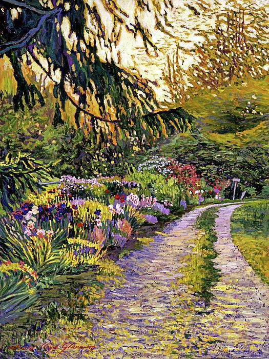 Sunset Road Impressions Painting  - Sunset Road Impressions Fine Art Print