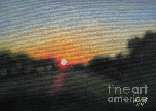 Sunset Road Print by Jindra Noewi
