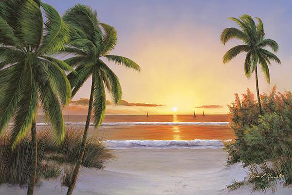 Sunset Sail Print by Diane Romanello