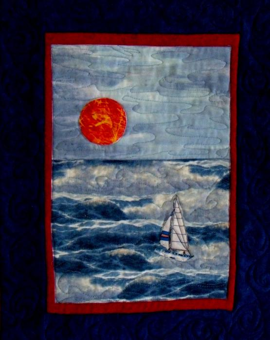 Sunset Sail Tapestry - Textile 