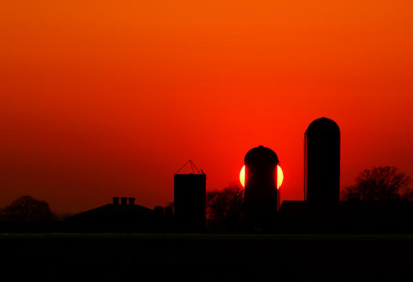 Sunset Silo Print by Cale Best