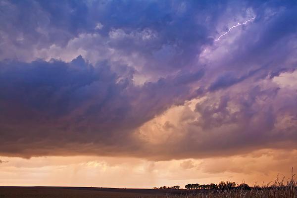 Sunset Storm Print by Chris  Allington