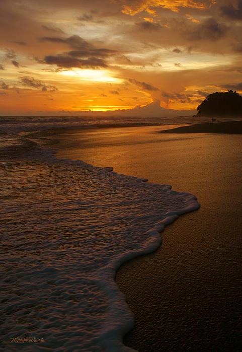 Sunset Surf Playa Hermosa Costa Rica Print by Michelle Wiarda