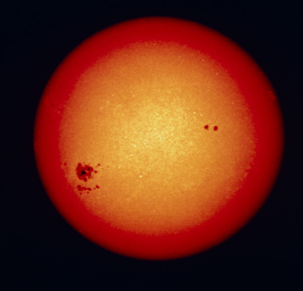 Sunspots On Disc Of Sun by Nasa