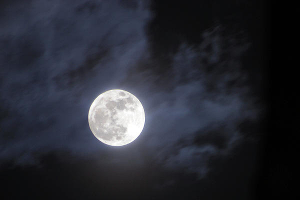 Super Moon Print by Amy Wessinger