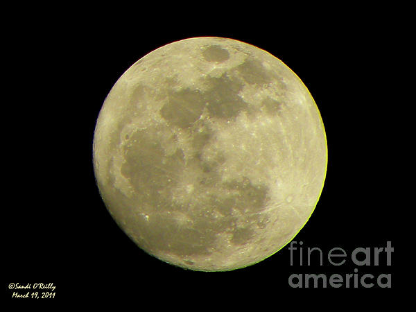 Super Moon March 19 2011 Print by Sandi OReilly
