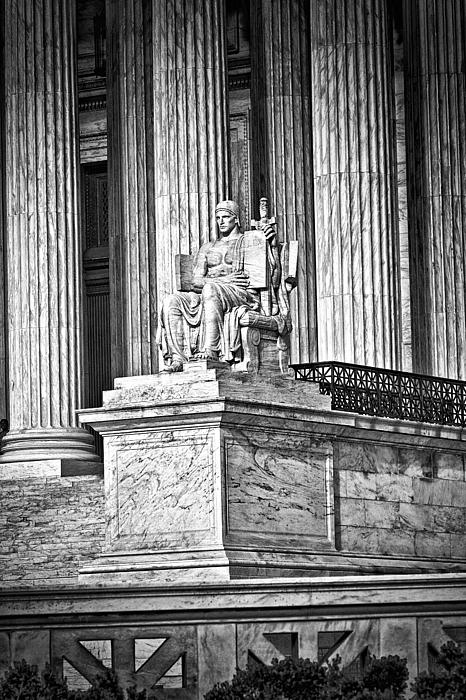 Supreme Court Building 1 Print by Val Black Russian Tourchin