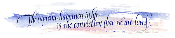 Supreme Happiness I Print by Judy Dodds