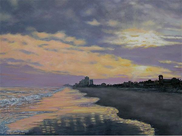 Kathleen McDermott - Surf Sunset Reflections