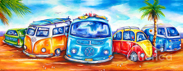 Surf Wagons Print by Deb Broughton