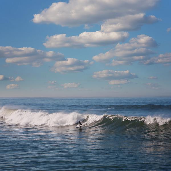 Surfer Riding Big Wave Print by Maciej Toporowicz, NYC