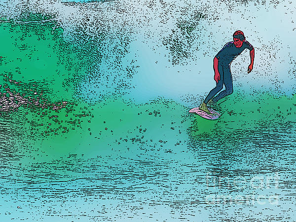 Surfing Print by Star Ship