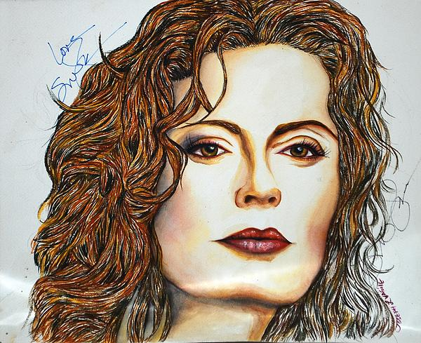 Susan Sarandon Mixed Media  - Susan Sarandon Fine Art Print